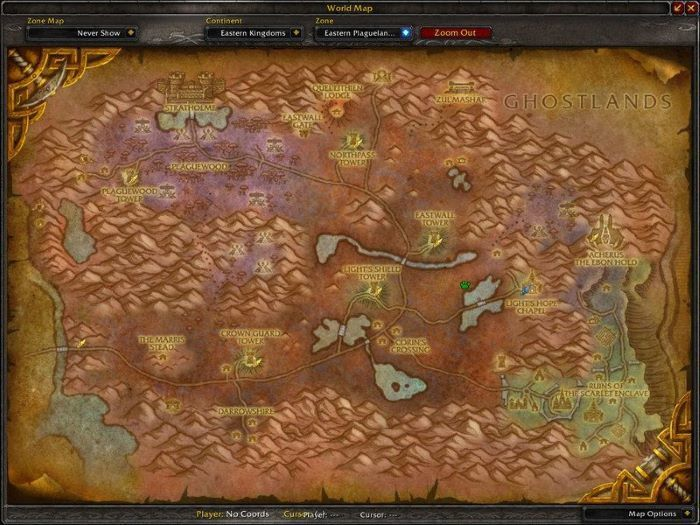 Eastern Plaguelands Zone in World of Warcraft, copyright Blizard Ent.