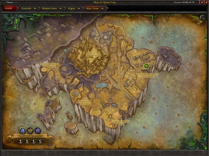 Mac'aree Zone in World of Warcraft, copyright Blizard Ent.