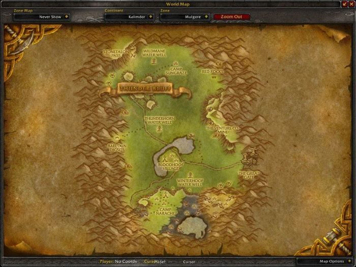Mulgore Zone in World of Warcraft, © Blizard Ent.