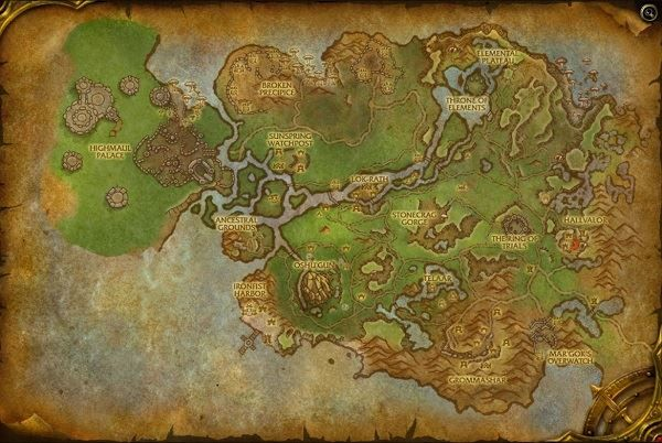 Nagrand Zone in World of Warcraft, copyright Blizard Ent.