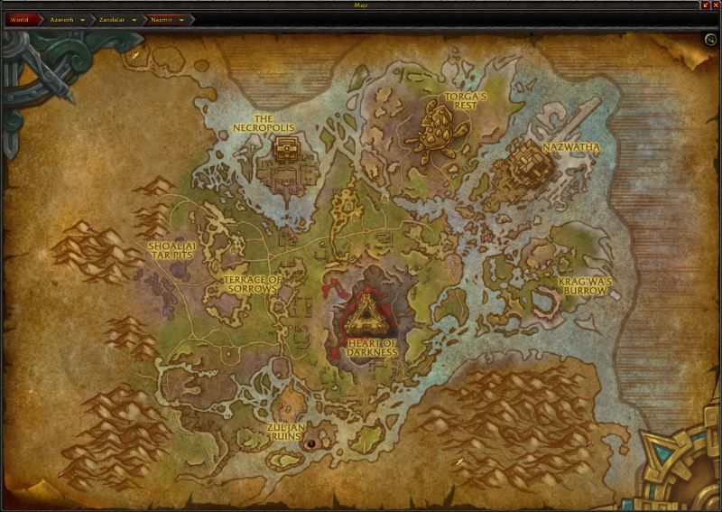 Nazmir Zone in World of Warcraft, copyright Blizard Ent.