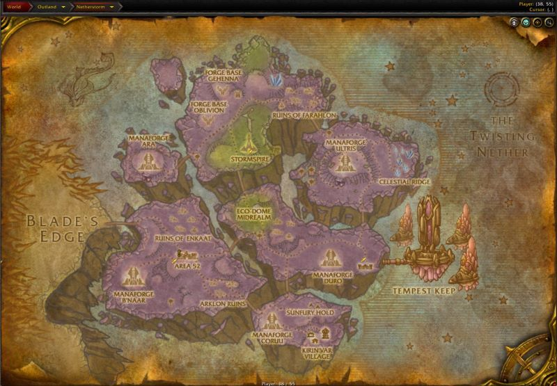 Netherstorm Zone in World of Warcraft, copyright Blizard Ent.