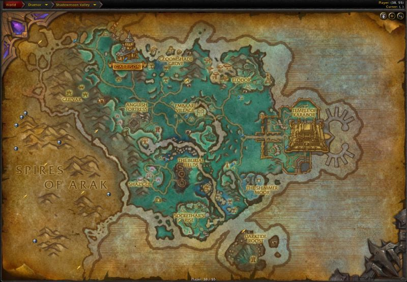 Shadowmoon Valley Zone in World of Warcraft, copyright Blizard Ent.