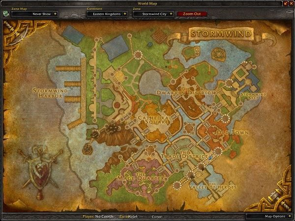 Stormwind Zone in World of Warcraft, copyright Blizard Ent.