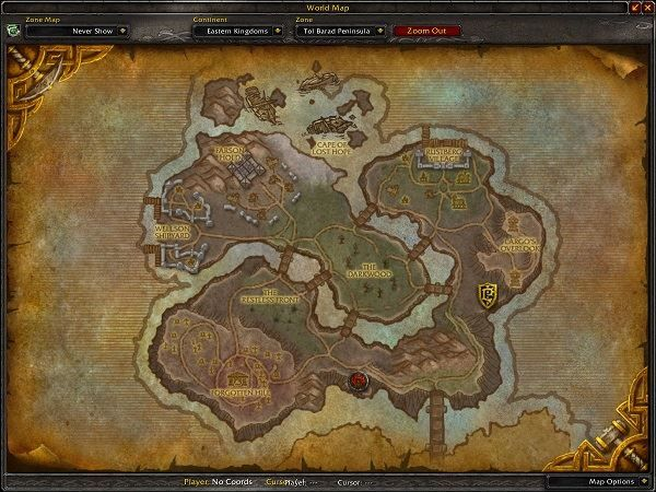 Tol Barad Peninsula Zone in World of Warcraft, copyright Blizard Ent.