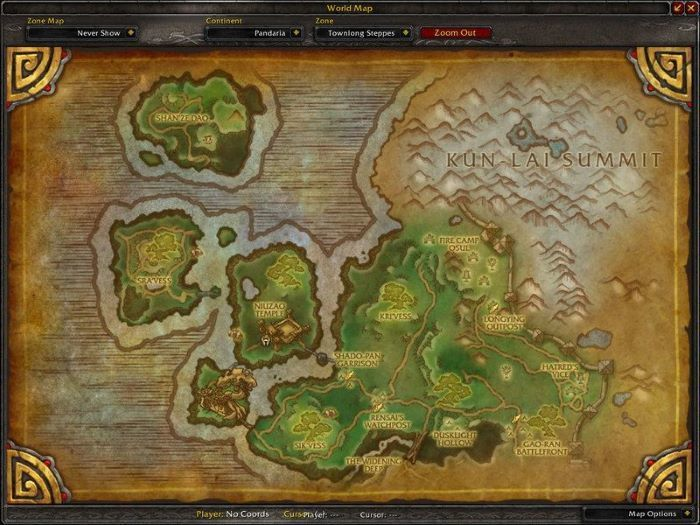Townlong Steppes Zone in World of Warcraft, copyright Blizard Ent.