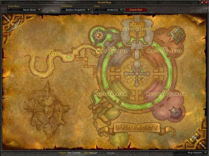 Undercity Zone in World of Warcraft, copyright Blizard Ent.