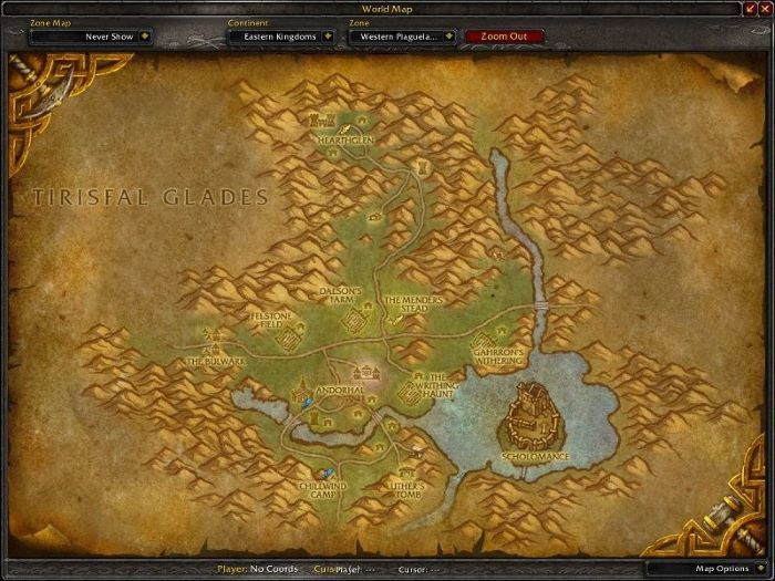 Western Plaguelands Zone in World of Warcraft, copyright Blizard Ent.