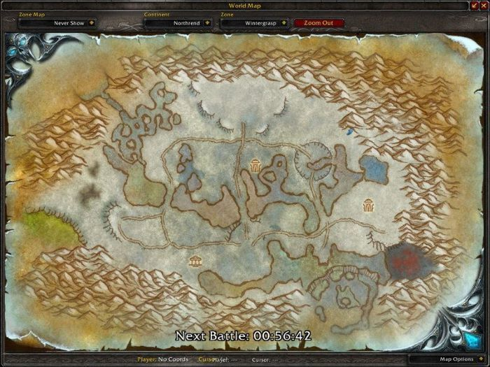 Wintergrasp Zone in World of Warcraft, copyright Blizard Ent.